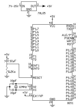 diagram koneksi 8051