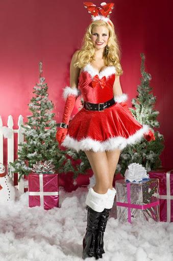 merry beauty christmas girl
